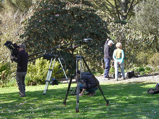 BBC Gardeners World Filming at Marwood Hill Gardens 2